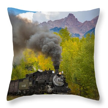 Huffing And Puffing Throw Pillow by Inge Johnsson