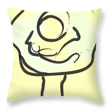 Throw Pillow featuring the painting Hug Tree by Go Van Kampen