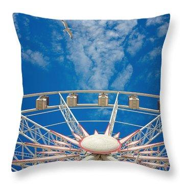 Huge Ferris Wheel Throw Pillow