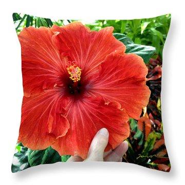 Huge Hibiscus Throw Pillow