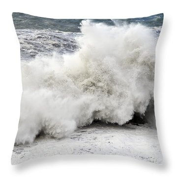 Huge Wave Throw Pillow by Antonio Scarpi