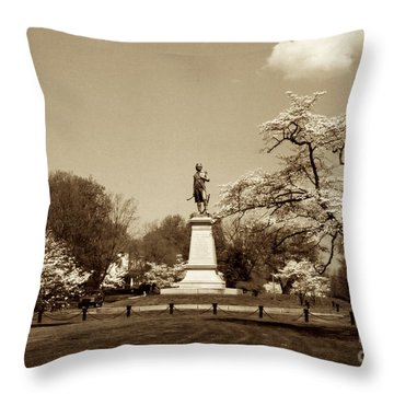 Hugh Mercer In Springtime II Throw Pillow