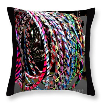 Huly Hoops Throw Pillow
