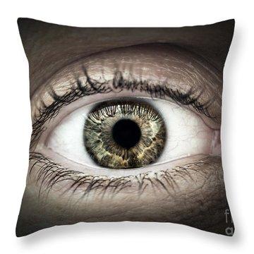 Human Eye Macro Throw Pillow by Elena Elisseeva
