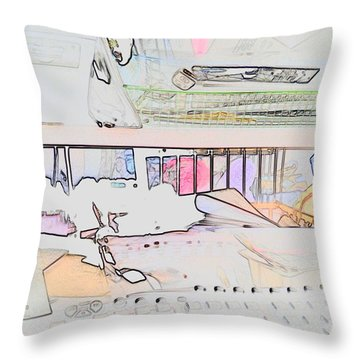 Throw Pillow featuring the photograph Human Technology by Fortunate Findings Shirley Dickerson