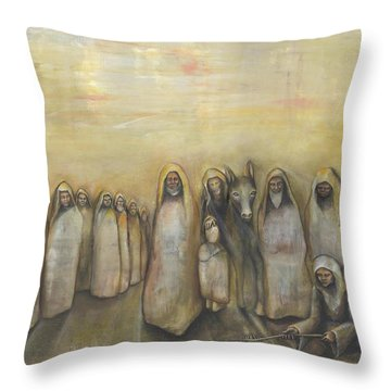 'humble Procession Of The King' Throw Pillow