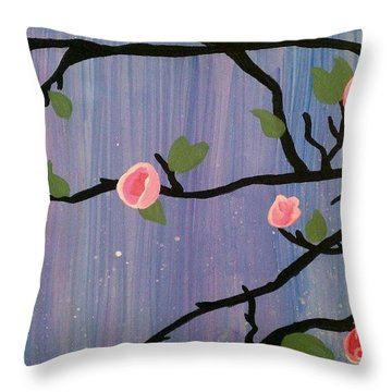 Throw Pillow featuring the painting Humble Splash by Marisela Mungia