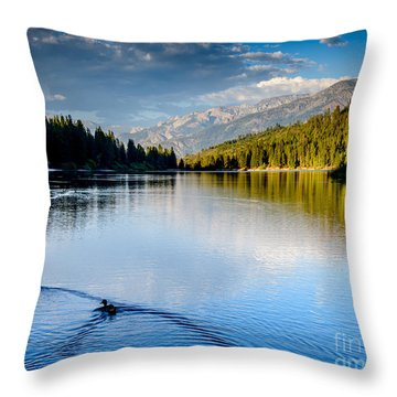 Hume Lake Evening Throw Pillow