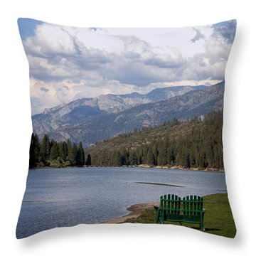 Throw Pillow featuring the photograph Hume Lake by Ivete Basso Photography