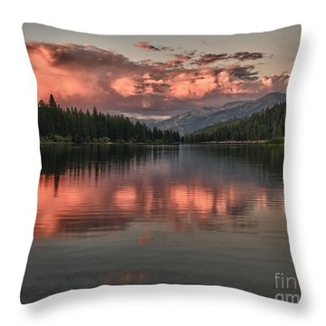 Hume Lake Sunset Throw Pillow by Terry Garvin