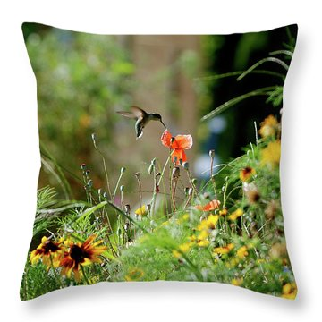 Throw Pillow featuring the photograph Humming Bird by Thomas Woolworth