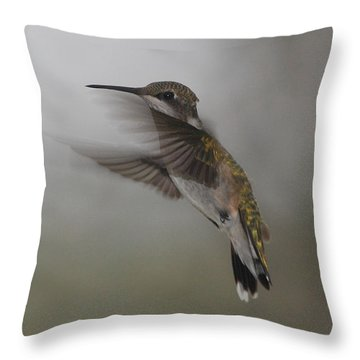 Throw Pillow featuring the photograph Hummingbird 6 by Leticia Latocki