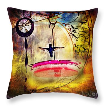 Hummingbird Dance Throw Pillow