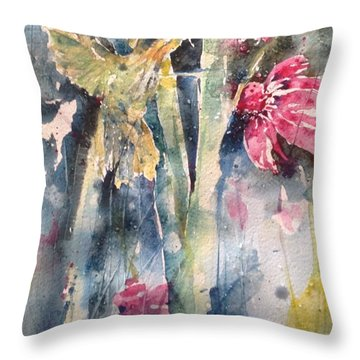 Hummingbird Don't Fly Away ...fly Away Throw Pillow