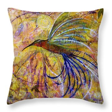 Hummingbird Don't Fly Away Throw Pillow