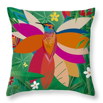 Hummingbird - Limited Edition  Of 10 Throw Pillow