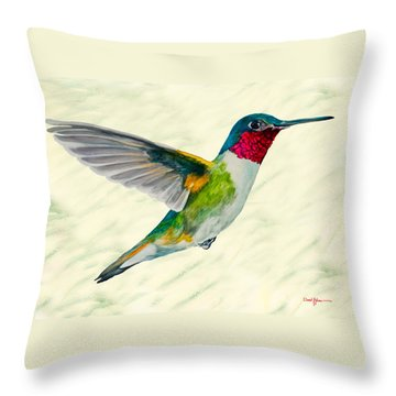 Da103 Broadtail Hummingbird Daniel Adams Throw Pillow