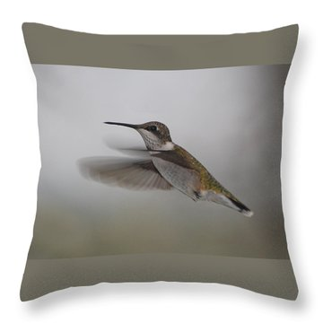 Throw Pillow featuring the photograph Hummingbird  by Leticia Latocki