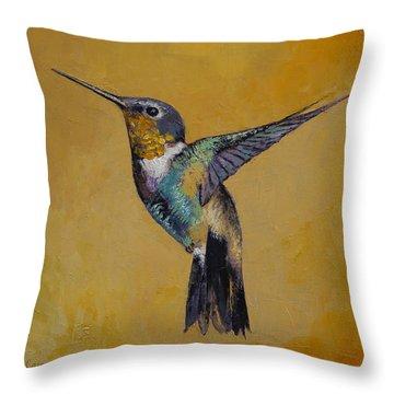 Hummingbird Throw Pillow by Michael Creese