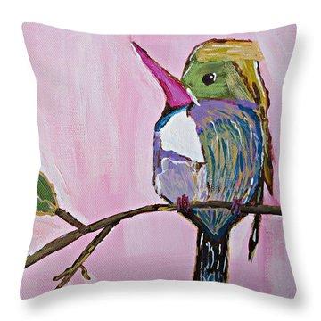Hummingbird No. 1 Throw Pillow