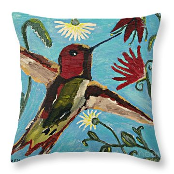 Hummingbird No. 2 Throw Pillow
