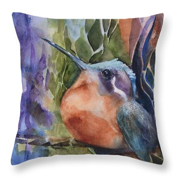 Hummingbirds - Morning Sun Throw Pillow
