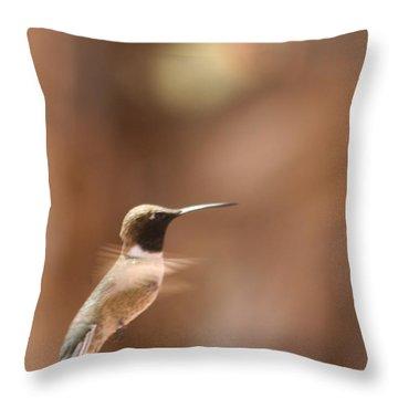 Hummmmm Throw Pillow by Nola Lee Kelsey