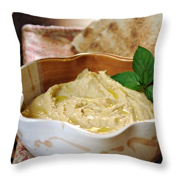 Hummus Throw Pillow