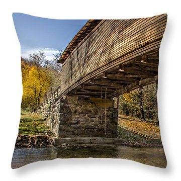 Humpback Bridge Throw Pillow