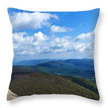 Humpback Rocks View North Throw Pillow