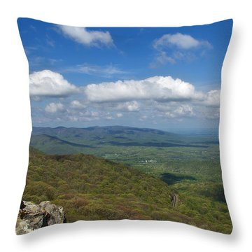 Humpback Rocks View South Throw Pillow