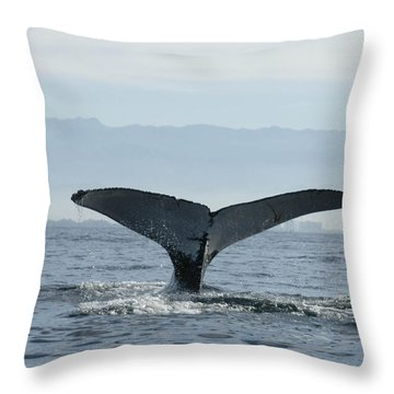 Humpback Whale Tail 3 Throw Pillow