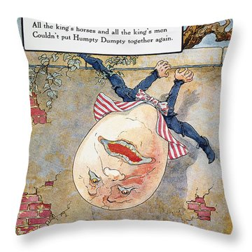 Humpty Dumpty, 1915 Throw Pillow by Granger