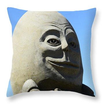 Humpty Dumpty Sand Sculpture Throw Pillow by Bob Christopher