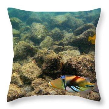 Humuhumu Throw Pillow
