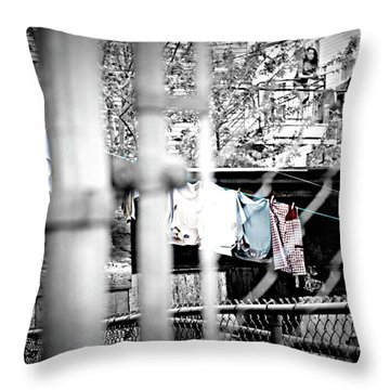 Hung To Dry Throw Pillow by Lisa Knechtel