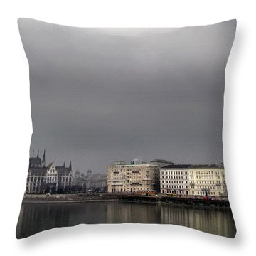 Hungarian Parliament Building Budapest Throw Pillow
