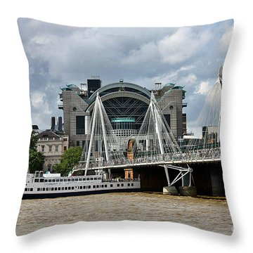 Hungerford Bridge And Charing Cross Throw Pillow