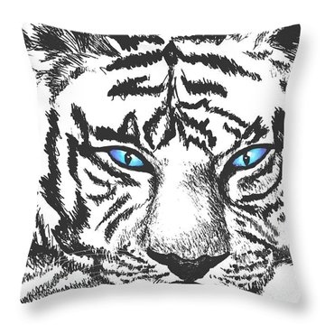 Hungry Eyes Throw Pillow by Sophia Schmierer