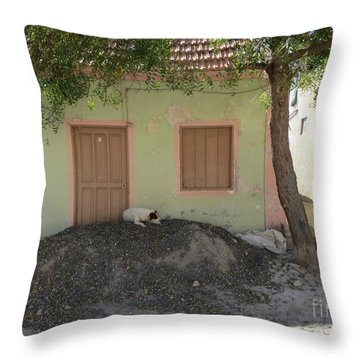 Throw Pillow featuring the photograph Hunted House In Kap Verde by Susanne Baumann