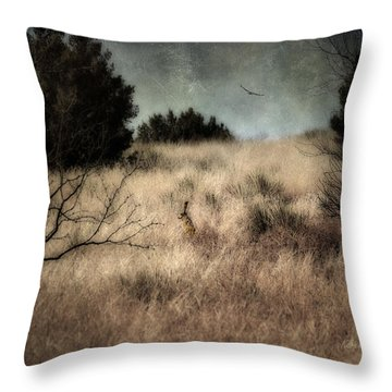 Hunter And The Hunted Throw Pillow by Karen Slagle