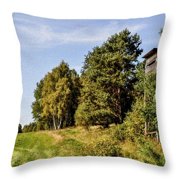 Hunter Lookout Throw Pillow by Aged Pixel