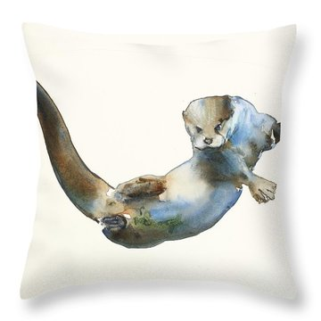 Hunter Throw Pillow by Mark Adlington