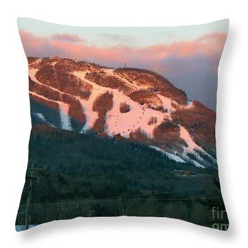 Hunter Mountain Morning Throw Pillow
