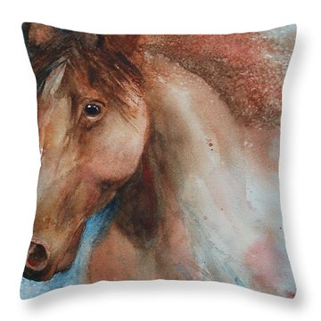 Hunter Throw Pillow by Ruth Kamenev
