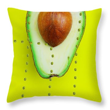Throw Pillow featuring the photograph Hunters Depicting Rutherford Atomic Model By Avocado Food Physics by Paul Ge