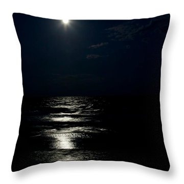 Hunter's Moon II Throw Pillow by Michelle Wiarda