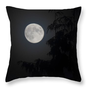 Hunters Moon Throw Pillow