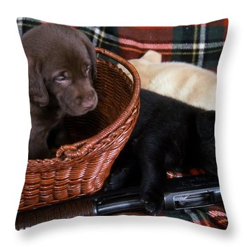 Hunters Puppy Dreams Throw Pillow by Skip Willits