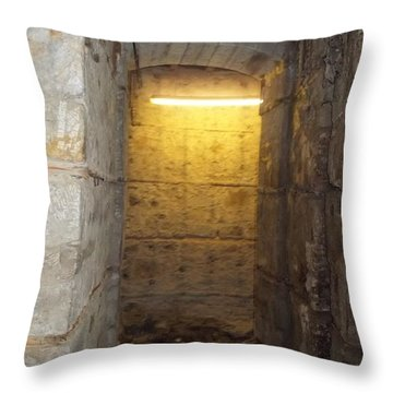 Hunthall Stone Doorway Throw Pillow